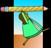 pencil lady