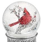 cardinal snowglobe